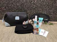 Bric's Amenity Kit - neue Serie Qatar Business (Kulturtasche) Schwarz, Hellblau