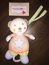 Baby Fehn Mini Spieluhr Stofftier Teddybär Grün Blau Orange Weiß Stern Arm Füße