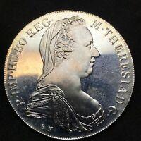 1780 AUSTRIA- PROOF SILVER BU MARIA THERESA (Re'strike) THALER. KM#T1