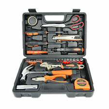General Household Home Repair and Mechanic's Hand Tool Kit Toolbox Storage Case