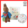 The Peter Rabbit Beatrix Potter Audiobook Soft Toy Plush Story Book Bundle Lot