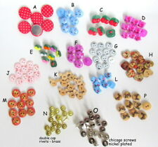 Buttons, Sewing Craft. Polka Dot Mickey Mouse Hello Kitty Cherry Rivets - 10 pcs