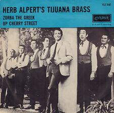 """HERB ALPERT'S TIJUANA BRASS – Zorba The Greek (1966 SINGLE 7"""" RARE DUTCH PS)"""