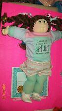 SOFT SCULPTURED CABBAGE PATCH KID! GIRL AQUAMARINE ED 1988 HTF HAIR HANDSIGNED