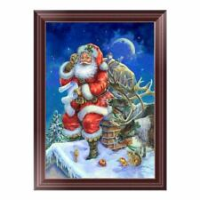 Cute Elk& Santa DIY 5D Diamond Painting Embroidery Cross Stitch Home Deco