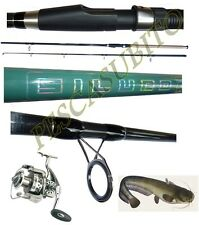kit canna extreme siluro 2.70m 300g + mulinello domino pesca break catfishing