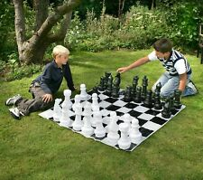 Garden Games Chess Set 30 Centimetres Tall With 1.2 Metre Square Mat