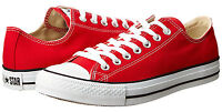 Converse Chuck Taylor Low Tops Red OX Womens Sneakers Tennis Shoes M9696