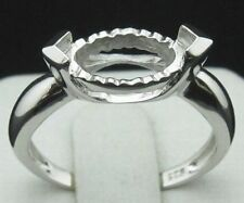 5.0x10.0mm Marquise Cut  925 Sterling Silver Semi Mount Ring Free Shipping