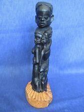 VTG AFRICAN MAKONDE CARVING FROM EBONY/ BLACK WOOD TREE OF LIFE SCULPTURE