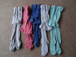 Bundle Of Girls Tights X5 Size 11-12 Years. 4 Next 1 TU