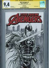 BLACK KNIGHT Sketch cover art by ADELSO CORONA CGC SS 9.4 Marvel Eternals