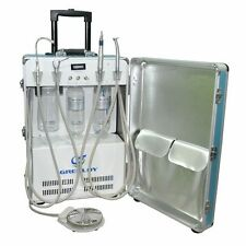 Dental Portable Unit with Air Compressor Mobile Unit W/H Pull-out Hanle & Wheels