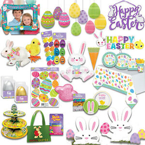 EASTER Party Tableware - Bunny Chick - Decorations Supplies Napkins Bags Banners