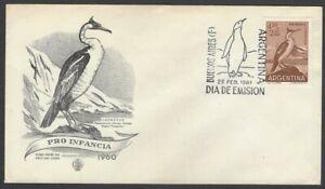 Argentina #B30 1961 Bird Pro Infancia FDC