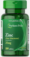 Puritan's Pride Zinc Chelate 25 mg - 100 Tablets (free shipping)