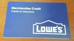 Lowes Merchandise Credit Gift Card $80.73 Value