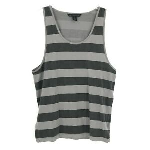 Marc by Marc Jacobs Tank Top Adult XL Gray Striped Sleeveless Lightweight Mens