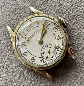 Vintage 1930s Bulova 10AE 10k RGP 15j Boy's Watch
