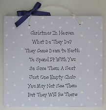 Christmas In Heaven Plaque - Christmas Decor - Bereavement Gift - Sympathy Gift