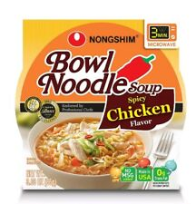 6 PACK Bowl Noodle Soup Spicy Chicken Flavor Travel