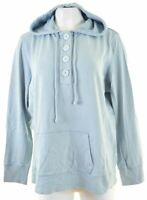 EDDIE BAUER Womens Hoodie Jumper Size 16 XL Blue Cotton  EF17