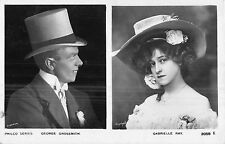 POSTCARD   ACTORS   GEORGE  GROSSMITH  &   GABRIELLE  RAY