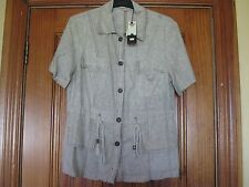 Alexo Linen Rich Short Sleeve Jacket Brand New with Tags