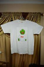 WORN TWICE SUPREME Kermit the frog Tee Kermit Photo T-shirt White Cream XL 08SS