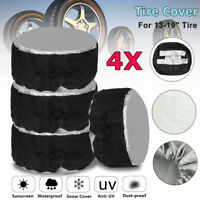 4pcs Car SUV Rim 13-19'' Wheel Bag Tote Tire Tyre Spare Storage Cover Protector