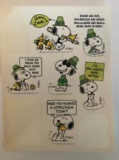 1980's Vintage Stickers. Snoopy Stickers. 80's Snoopy Stickers. Preowned.