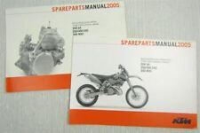 KTM 250 300 SX EXC MXC Ersatzteilliste Parts List Fahrgestell + Motor 2005