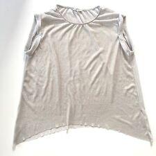 Zara Women's Career Tunic Top Size S Gray with Silver Metallic Thread