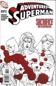 Adventures Of Superman Comic 643 Cover B Kerschl First Print 2005 Greg Rucka DC