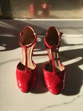WOMENS REPETTO SHOES: CHERRY RED SALOME BAYA PUMP -PATENT LEATHER SIZE 6.5
