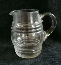 More details for vintage retro small handblown glass artisan jug posy vase water milk table jug