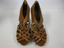 "NINE WEST"" o-everx5"" Zip Cage High Heels Strappy 9.5 slip on shoes."