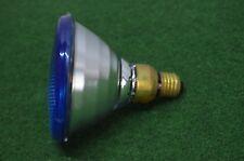 ANCIENNE AMPOULE LAMPE PHILIPS 220 V 100 W COULEUR BLEU DISCO PAR 38 RAMPE BAL