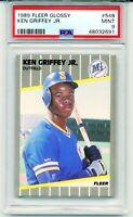 1989 Fleer Glossy KEN GRIFFEY JR. ROOKIE CARD #548 RC Mint Low Pop MINT PSA 9