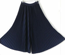 Scoth&Soda Pants EXTRA Wide High Waist Pleated Mid-Night Blue Size S/M