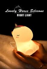 Animal Kids Atmosphere Lovely Horse Silicone Night Light
