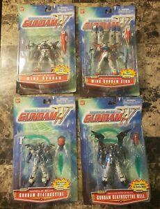 4 Bandai Mobile Suit Gundam Figures BNIB MOC Deluxe Wing Zero, Deathscythe Hell