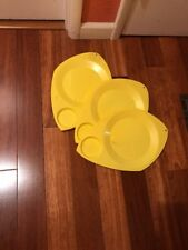 3 Wilpak Yellow Color Paper Plate Cup Holders - This Is Us Party 1975 Camping