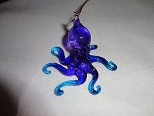 Hanging Octopus of Blown Glass Crystal