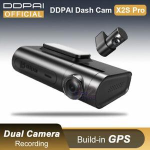 DDpai X2S Pro 2CH 2K Front 1080P Rear Dual WiFi GPS QuadHD Dashcam DVR Hardwire