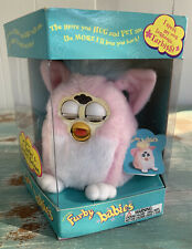 Vtg 1999 Tiger Electronics Furby Babies Pink W/ White Ears Baby
