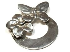 Butterfly/Flower Pin/Brooch - Mexico Beautiful Ladies Sterling Silver