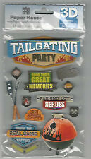 Paper House Football Tailgaiting Party Dimensional 3d Scrapbook Stickers