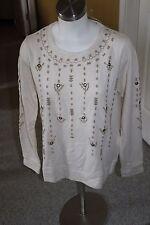 Lucky Brand Lucky Lotus cotton southwest sweatshirt NEW Womens MEDIUM NEW