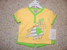 Absorba Infant Baby Boys 0-3 M Months Yellow Shirt Green Shorts Set Outfit